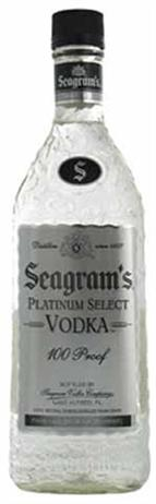 Seagrams Vodka Platinum Select 100 Proof